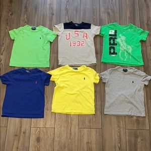 Polo t-shirts all size 3/3t. Good used condition